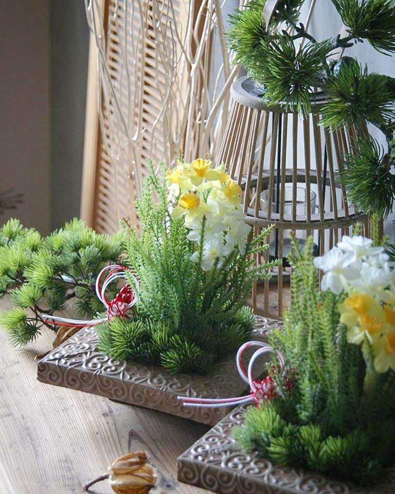 画像1: お正月飾り 水仙テーブルアレンジ (1)
