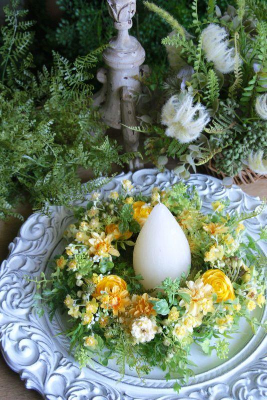 画像1: ラナンキュラスの小花リース (1)
